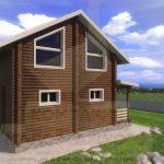 Дом 6х5,5м оцилиндрованное бревно 180мм (Код: Д-10) - фасад 2