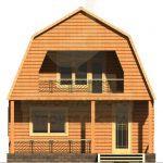 Дом 6х6м брус 150х150мм вариант 2 (Код: Д-05)