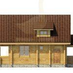 Дом 11,5х7,5м оцилиндрованное бревно 220мм (Код: Д-22)