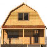 Дом 7,5х6м брус 150х150мм (Код: Д-11)
