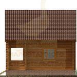 Дом 6,5х5,5м оцилиндрованное бревно 220мм (Код: Д-02) - фасад 6