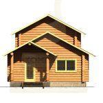 Дом 7х5,5м оцилиндрованное бревно 180мм (Код: Д-12)