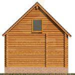 Дом 6,5х5,5м оцилиндрованное бревно 220мм (Код: Д-02) - фасад 7