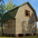 Дом 6х6м брус 150х150мм вариант 1 (Код: Д-04)