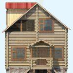 Дом 7,1х7,1 оцилиндрованное бревно 200 (Код: Д-08)