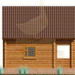 Дом 6,5х5,5м оцилиндрованное бревно 220мм (Код: Д-02) - Фасад 4