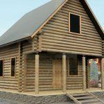 Дом 6,2х6м оцилиндрованное бревно 220мм (Код: Д-01) - фасад 1