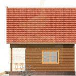 Фасад дома 6х6м брус 100х150мм (Код: Д-03)