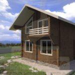 Дом 6х5,5м оцилиндрованное бревно 180мм (Код: Д-10) - фасад 1