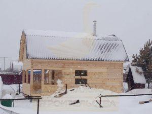 Баня из бруса, п. Юный Ленинец, СНТ «Лазурный-М»