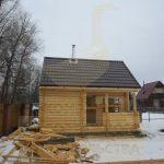 """Баня 5,5х4, СНТ Транспортник, январь 2012 """"Гусь деревянный"""""""