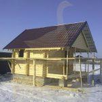 """Баня 4,7х3,7, СНТ Бердь, декабрь 2011 """"Гусь деревянный"""""""