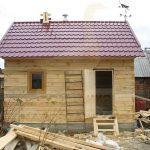 """Баня 5х4, ст Сосна, сентябрь 2010 """"Гусь Деревянный"""""""