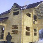 """Дом 6,5х6, п.Рыбачий, декабрь 2011 """"Гусь Деревянный"""""""