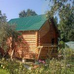 Баня 5,5х4, Буготак, СНТ Березка, август 2014