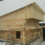 Односкатная крыша в бане