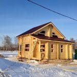 Дом 7,5х7,5, СНТ Тальник - Катковский, январь 2015