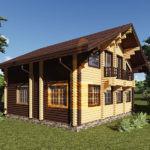 Дом 9,5х9м оцилиндрованное бревно 200мм (Код: Д-55)