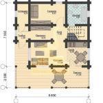 Дом 10х8,6м оцилиндрованное бревно 240мм (Код: Д-51)