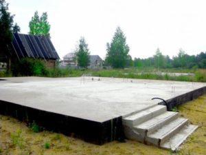 Фундамент-монолит для строительства деревянного дома, компания Гусь Деревянный в Новосибирске