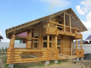 Строительство дома из бревен, компания Гусь Деревянный в Новосибирске
