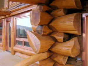 Защита дома из бревен, компания Гусь Деревянный в Новосибирске