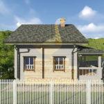 Дом 9х8,7м профилированный брус 200х200мм (Код: Д-56)