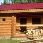 Проект бани из бревна 180мм «Гусь Деревянный»