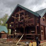 Строительство дома 9*10м из бревна 220 мм