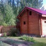 Строительство бани из бревна 180 миллиметров «Гусь Деревянный»