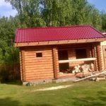 Баня из бревна 180мм «Гусь Деревянный»