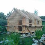 Баня из оцилиндрованного бревна 200 мм «Гусь Деревянный»