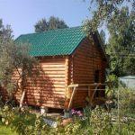 Строительство бани из оцилиндрованного бревна «Гусь Деревянный»