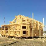 Процесс строительства дома «Гусь Деревянный»