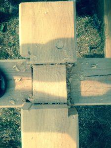 """Изготовление чаш при монтаже дома из профилированного бруса """"Гусь деревянный"""""""