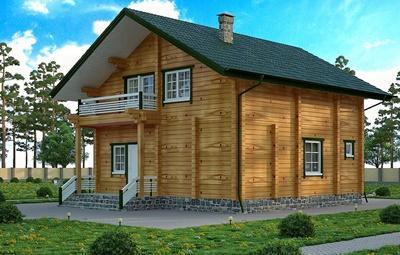 Проект дома из строганного бруса