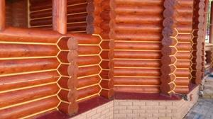 Утепление швов деревянного дома герметиком