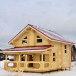 Дом из оцилиндрованного бревна Лаки-парк