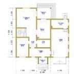 Дом с гаражом 12,3х11,5м из бруса 200х150мм (Код: Д-76)